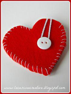 Taschina cuore di feltro
