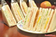 Sandwich Chinese Breakfast, Vanilla Cake, Sandwiches, Desserts, Food, Tailgate Desserts, Deserts, Meals, Dessert
