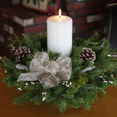 Modern Christmas Candles Decoration Tree Settings: Hgtv Home Office Design Ideas Christmas Candles Decor Best Christmas Table Decorations Christmas Tree Balls. Christmas Table Centerpieces, Candle Centerpieces, Christmas Candles, Rustic Christmas, Pillar Candles, Christmas Diy, Christmas Wreaths, Christmas Decorations, Holiday Decor