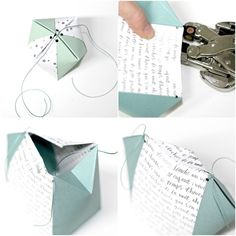 folded gift box free templates tutorials cut files Stempeleinmaleins