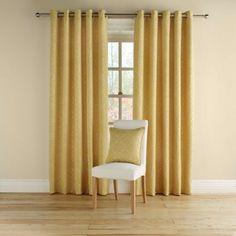 Montgomery Mustard 'Rotunda' fully lined curtains with eyelet heading- at Debenhams.com