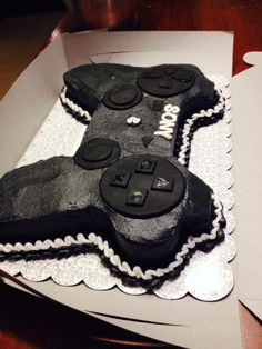 - Sony Playstation 3 Remote Cake - Chocolate Cake with Buttercream icing and fondant accents (www.facebook.com/stephssugarhi)
