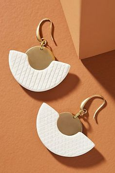 Gold-Plated earrings Zuri Earrings Fan Charm Folded Fan Triangle earrings Gold-Plated over copper Czech Beads Faceted Czech Beads