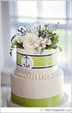 Wedding Cake Green and White, Cake: J. Cakes CT.