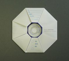 A4用紙1枚でできるCD紙ケース