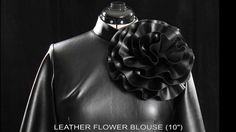 Tawni Haynes Leather Flower Blouse.