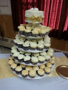 50th anniversary cupcake tower.
