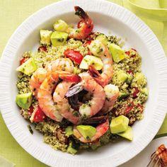 Lunch: Shrimp, Avocado and Quinoa Salad: Self.com : SELF Magazine: fashion…