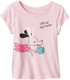 Jumping Beans Baby Girl Jumping Beans® Short Sleeve Easter Glitter Graphic Tee