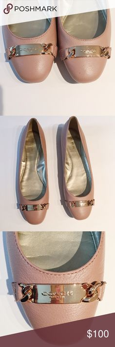 Coach Bianca Flats in Warm Blush Coach Bianca Flats in Warm Blush. Worn once. Gold logo etched hardware. Leather with Rubber sole. Size 9. Coach Shoes Flats & Loafers