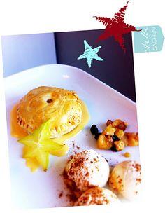 Apfelpastete mit Zimteis und Calvados-Sabayon *