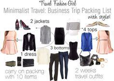 Business Trip Packing List for Minimalist Fashionistas