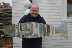 Norfolk artist Andrew Ruffhead   www.fish-and-ships.com and a new artwork -made from pieces of old fishing boats