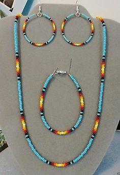Jewelry Making Indian Native American - Jewelry Diy Schmuck, Schmuck Design, Native American Beading, Native American Jewelry, Native American Crafts, Jewelry Crafts, Handmade Jewelry, Handmade Necklaces, Handmade Beads