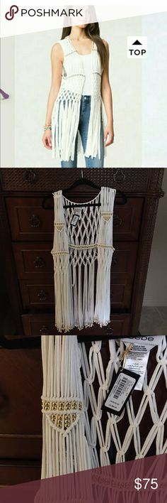 fringe for beach cover excellent condition . u can wear cover for going to the beach or party after beach 🌊 it's a beautiful!!! bebe Sweaters Cardigans