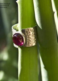 Anello in argento e radice di rubino - Gioielli Vitalba Canino