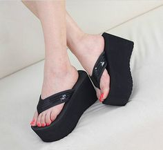 New Womens flip flops High Wedge Platform Pumps Shoes Sandals Size in Clothing, Shoes & Accessories, Women, Women's Shoes, Sandals Platform Flip Flops, Flip Flop Shoes, Platform Pumps, Pump Shoes, Shoes Sandals, Lace Shoes, Flip Flops Damen, Slipper Sandals, High Wedges