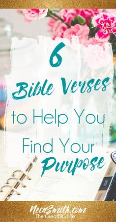 Here are some scriptures to meditate on to aid you on your journey and search for your God given purpose. Click to read!