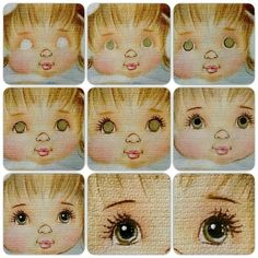 step by step painted doll eyes Eye Painting, Doll Painting, Fabric Painting, Peg Doll, Doll Face Paint, Doll Eyes, Sewing Dolls, Waldorf Dolls, Soft Dolls