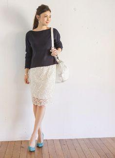 【予約販売】【LUXE】ストレッチレーススカート 新着 | おしゃれな大人レディースファッション通販STYLE DELI
