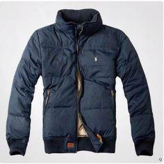 Navy Blue Polo Jacket
