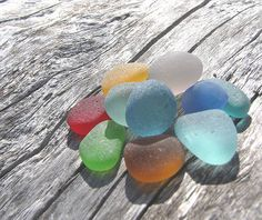 Coloured sea glass