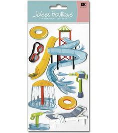Jolee's Boutique Le Grande Dimensional Stickers-Water Park, , hi-res  $5.99