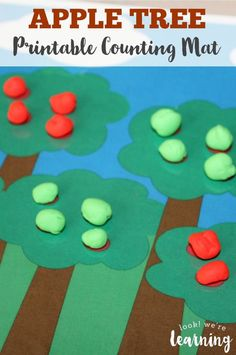 This fun apple tree counting mat is one of our favorite fall-themed preschool…