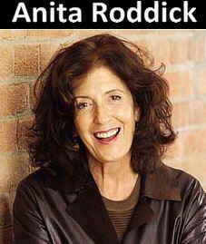 Rebecca Cousins: Anita Roddick, the face behind Body Shop.
