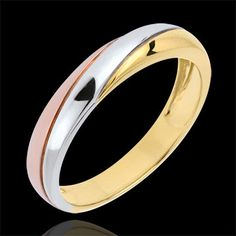 women Three Golds Timelessness Wedding Ring