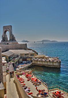 Corniche Marseille  Find Super Cheap International Flights to Marseile, France ✈✈✈ https://thedecisionmoment.com/cheap-flights-to-europe-france-marseille/