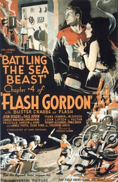 vintage movie poster:  flash gordon 1936
