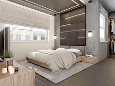 Concrete Wall Designs: 30 Striking Bedrooms That Use Concrete Finish Artfully