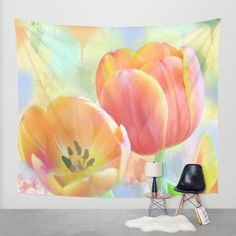 Buy Pastel Painterly Tulips Wall Tapestry by thea walstra. Worldwide shipping available at Society6.com. Just one of millions of high quality products available.