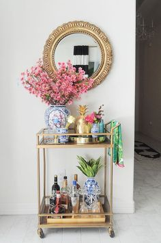 Summer Party Crash Tour: Bar Cart Styling Tips