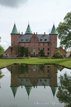 Trolleholm Castle by the pond in Scania Sweden  10 x 15 by dbsouza, $24.00