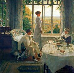 1913 Summer Afternoon (An Interior, Lord Birkenhead Seated)  Leonard Campbell Taylor (1874–1969)  Williamson Art Gallery & Museum