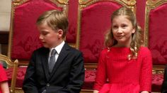 hrhroyalty:  Prince Gabriel and Crown Princess Elisabeth, July 21, 2013