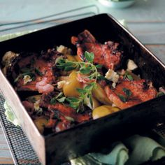 Dig into the Pork and Apple Tray Bake from the oven to the table, full of delicious flavour. Cheese Mashed Potatoes, Pork Loin Chops, Fun Baking Recipes, Pork Recipes, Recipies, Roasting Pan, Perfect Food, Winter Food, Tray Bakes