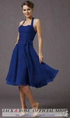 robe cocktail mariage bleu roi la mode des robes de france. Black Bedroom Furniture Sets. Home Design Ideas