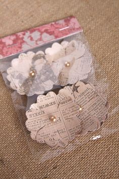 Handmade Flowers in Ivory, Handmade Vintage Paper Flowers, Vintage Decor on Etsy, $3.75