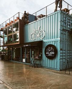 Container Coffee Shop, Cargo Container Homes, Container Shop, Container Buildings, Container House Design, Shipping Container Restaurant, Shipping Container Homes, Cafe Shop Design, Shop Interior Design