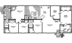 Floor Plans for Ranch Homes | ... Modular Homes - Classic Ranch Modular 2380K Modular Home Floor Plans