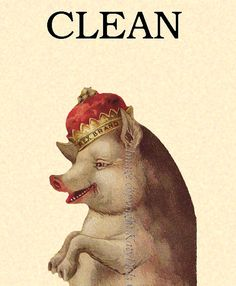 Clean Dirty Dishwasher Magnet  Pig with a Crown  by KatyDidsCards, $4.99