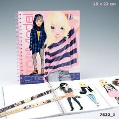Album de coloriage Top Model, loisir créatif Top Model, Cadodes.com