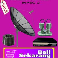 Parabola Ewa Head Office,, Jl.Dr Semeru Raya No.1 Jakarta Barat 11450. Phone: 0898 7825 665 - 0853 2082 4437 ( Website: www•kingelectro•com )  A.Harga Paket Parabola Fixed 2 Satelit MPEG 2 Rp.1.300.000 60 Siaran lokal - daerah + rohani Sudah termasuk pemasangan + garansi Kelengkapan paket Yang Anda Dapat sbb:  - Dish jaring 7 feet - Receiver MPEG 2 - Lnbf Twin 2 satelit - Tiang parabola - 10 meter kabel coaxial rg 6 75 ohm  Terima kasih.Atas kunjungan nya.