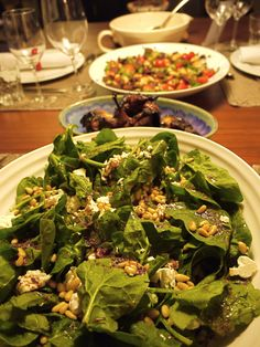 Spinach, fate and sumac salad