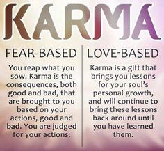 The definition of Karma outside of Judeo-Christian rubric.