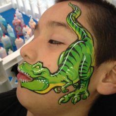Easy T Rex Face Paint