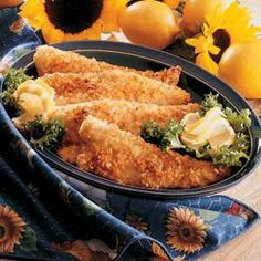 Instead of Frying Fish Recipe -This quick recipe is one I discovered 20 years ago in a fund-raiser cookbook. Since my husband is an avid fisherman, I've put it to good use over the years. The crispy potato chip coating bakes up toasty brown, and the fillets stay nice and moist. —Sharon Funfsinn, Mendota, Illinois